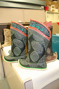 Mongolian Boots ordered for the Bata Shoe Museum