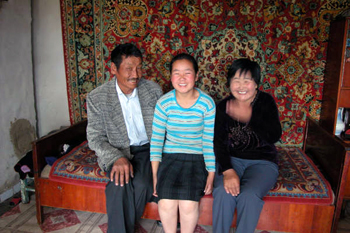 Picture of family of Mongolian Boot makers